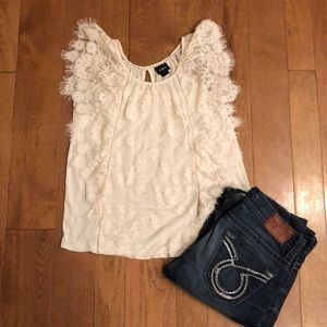 Daytrip small cream lace top